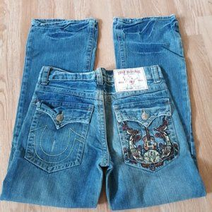 TRUE RELIGION World Tour Joey Big T Blue Jeans